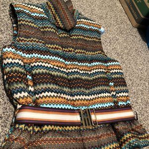 Authentic Missoni Belted Puffer Vest